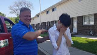 Leaking Heaven -- Girl feels Holy Spirit and is healed of back pain instantly.