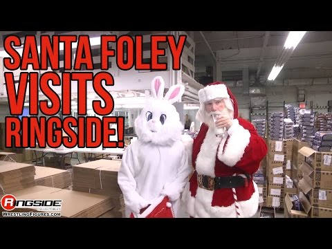 Santa Foley visits Ringside Collectibles!!
