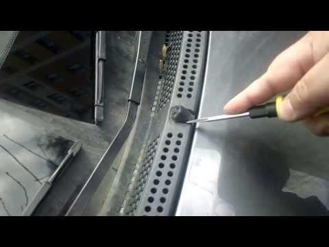 Видео как снять омыватель фар