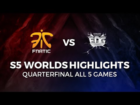 FNATIC vs EDG Highlights All games Quarter-Final 2015 LoL World Championship