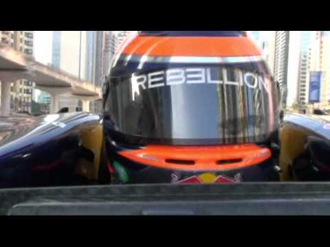Red Bull F1 Demo - Show run in Dubai with Neel Jani