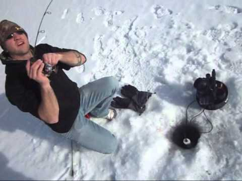Travis Kimsey Ice Fishing Buffalo Wyoming