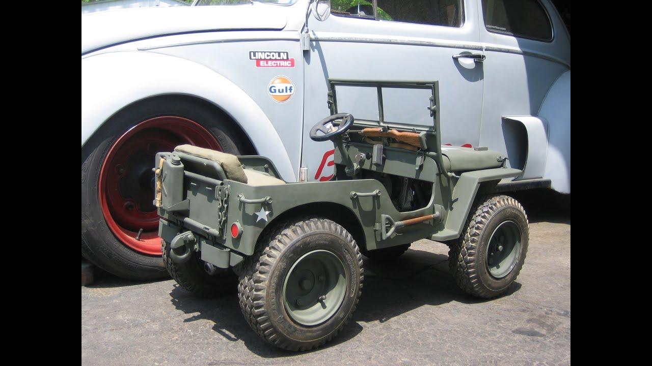 Mini Willys Jeep Gokart 1 3 Scale Replica Custom Built