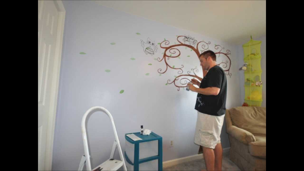 owl in the family stop motion wall mural turn the name how to turn a wallpaper mural into a large scale hanging