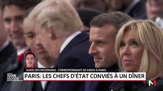 Centenaire de l'Armistice: des dizaines de chefs d'Etat et de gouvernement réunis à Paris