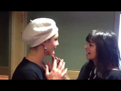 Caro Emerald meets Claudia Winkleman - briefly