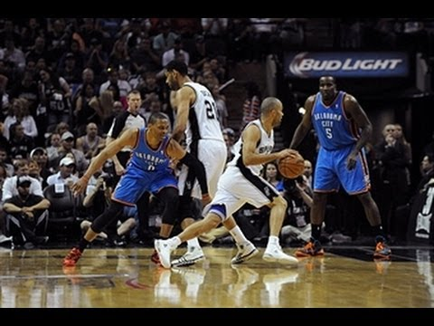 Tony Parker's Incredible No-Look Hockey Assist