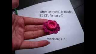 How to crochet flowers by Fibreromance