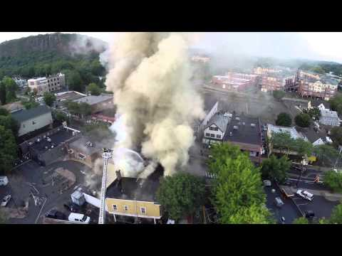 Drone video and radio traffic: Multi-alarm fire at Conn. restaurant