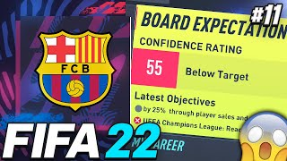 SEASON FINALE!!! WE COULD GET SACKED!!😱 - FIFA 22 Barcelona Career Mode EP11