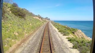 Amtrak Pacific Surfliner Time-Lapse from San Luis Obispo to Los Angeles