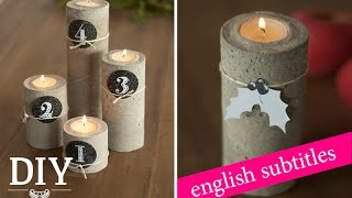 Weihnachtsdeko basteln - Adventskranz aus Beton Tutorial / advent wreath How-to | Deko Kitchen