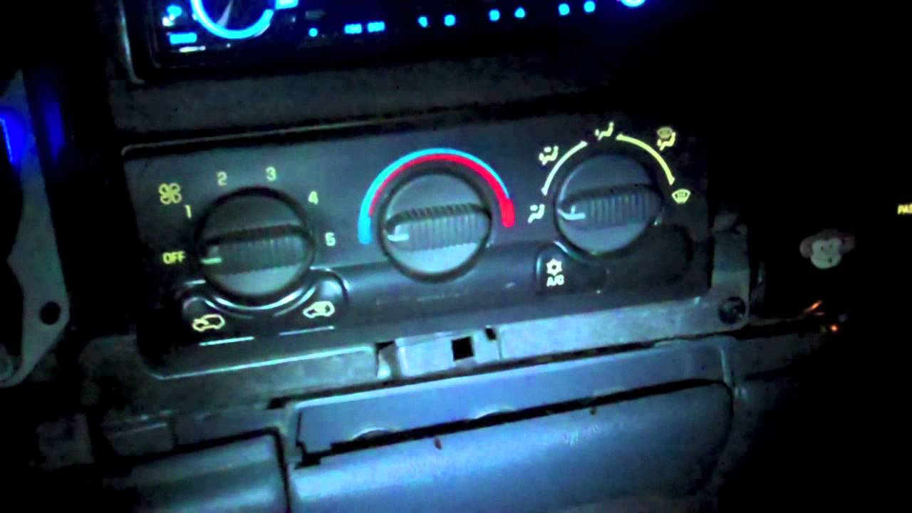 How To Change The Color Of Your Dash In A 99 03 Silverado