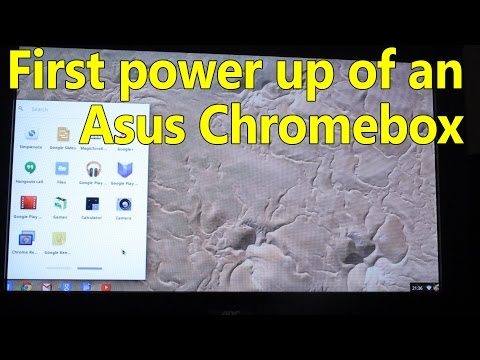 Asus Chromebox first power on and initial test, CN60, M004U