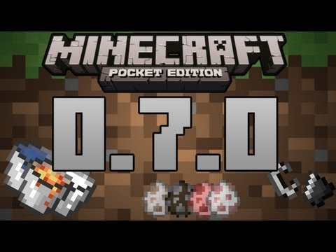 Minecraft Pocket Edition   0.7.0 Update Review (Spawn Eggs. Buckets. Realms)