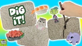Dig It Bars! Digging For Surprise Toys! Go Doctor Squish