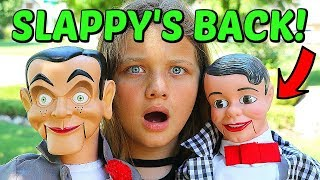 SLAPPY'S BACK! Slappy Brings His Brother DANNY! Goosebumps in Real Life!