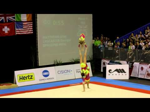 Gymnastics FIG Acro World Cup Maia 2014 WG Combined GBR