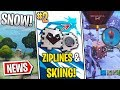 Fortnite News | S7 Teaser #2, Ziplines, Christmas Airdrop, Snowing Now, Epic Games Store & More