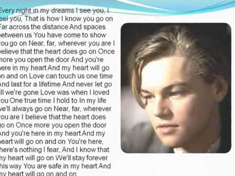 letra de cancion de titanic en ingles: