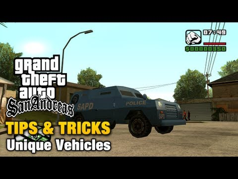 GTA San Andreas - Tips & Tricks - Unique Vehicles