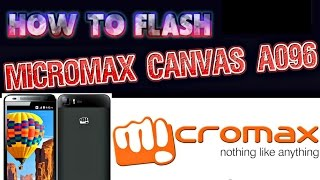 How to flash micromax a096