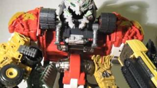 Transformers ROTF Revenge of The Fallen Supreme Combiner Class Constructicon Devastator Review