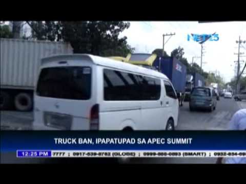 MMDA to  implement modified truck ban for APEC summit