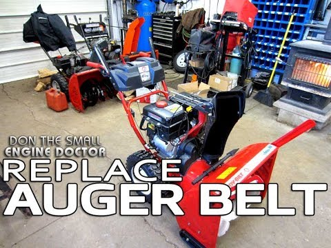 Snowblower Auger Belt Replacement On Troy-bilt/Cub Cadet/Yardworks & MTD