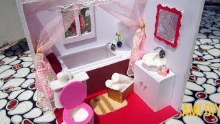 DIY Miniature Dollhouse Bathroom (FULL VIDEO) | Cách làm phòng tắm cực xinh cho búp bê | Ami DIY