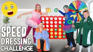 Speed Dressing Challenge!!! Wearing Our Sister's Clothes!