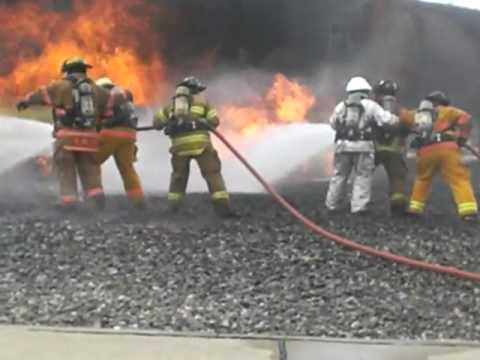 ARFF Training at the Blue Grass Kentucky Airport Training Site