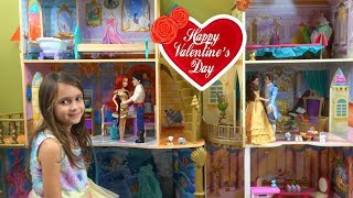 Princess Belle and Ariel Valentine's Day Story with Barbie Shop, Barbie Fashion, Barbie Pets