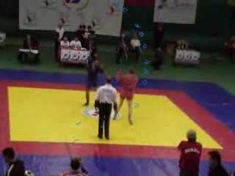spinning kick KO at World Combat Sambo Championship