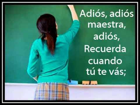 El mundo preescolar adi s adi s maestra adi s edmundo for Cancion adios jardin querido