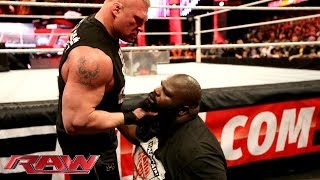 Brock Lesnar brawls with Mark Henry: Raw, March 3, 2014