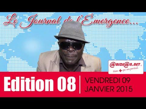 Le Journal Télévisé de l'Emergence du Vendredi 09 Janvier  2015