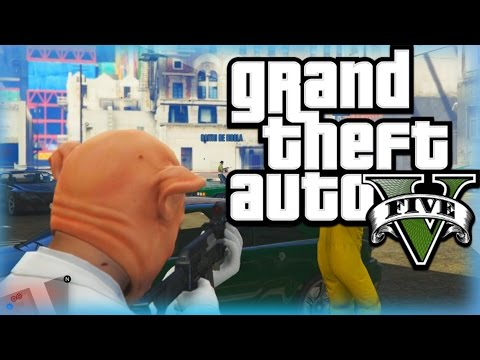 Gta 5 Heists Funny Moments Humane Labs Heist Piggy Stealing