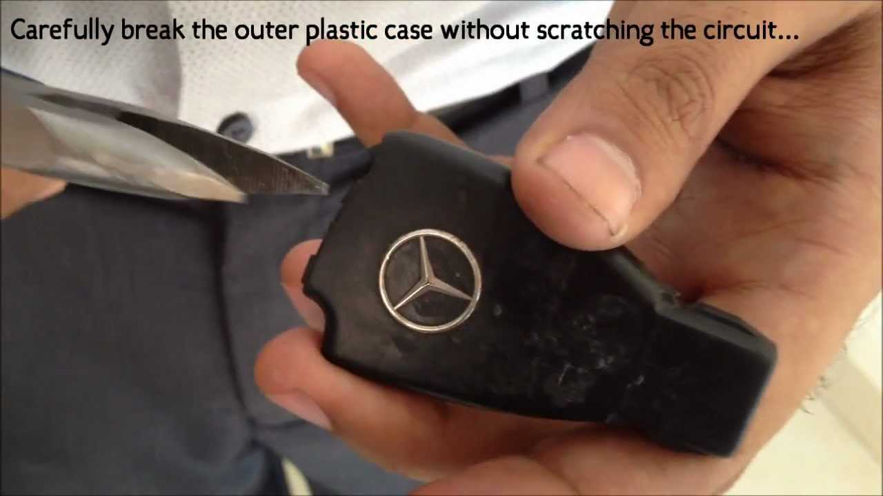 mercedes replace ignition key