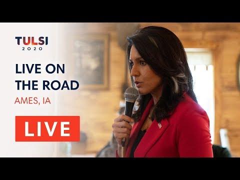 Tulsi Gabbard LIVE on the road - Tulsi Meet & Greet - Ames, IA