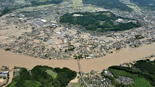Japan floods: Aerial footage shows devastation on Kyushu