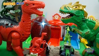 Interesting Story Car And Dino | Dinosaur laying eggs toys Jurassic world