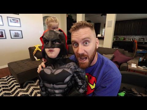 Nerf Justice League Movie Batman Gear Test & Bad Kid Nerf Gun Prank! by KIDCITY