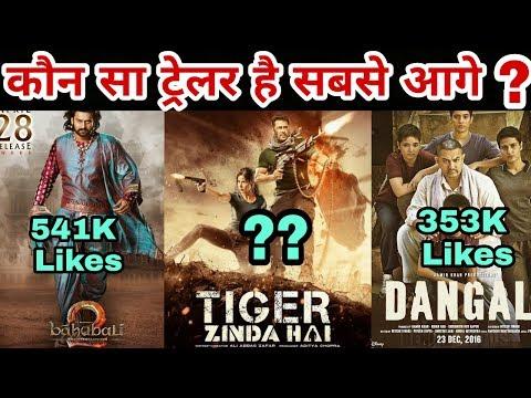 Which trailer won on social media | Tiger Zinda Hai | Dangal | Bahubali 2 | Salman Khan thumbnail