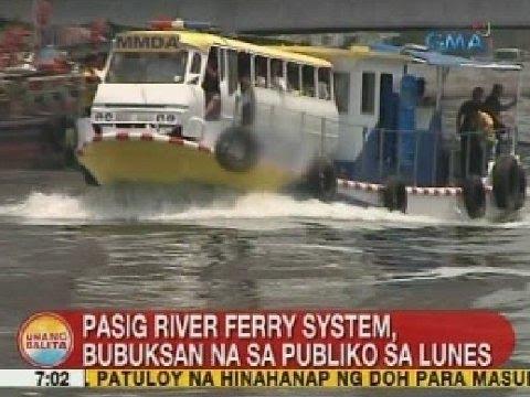 UB: Pasig River ferry system, bubuksan na sa publiko sa Lunes