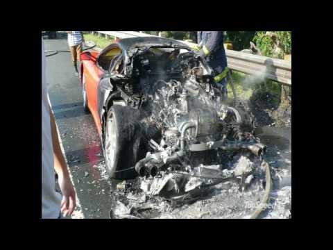 car crash - autos chocados de lujo parte 1