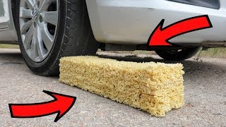 EXPERIMENT: CAR vs BIG RAMEN NOODLES