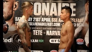 MARCO McCULLOUGH v ARNOLD SOLANO - OFFICIAL WEIGH IN VIDEO (BELFAST) / FRAMPTON v DONAIRE