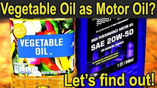 Will Vegetable Oil work as Engine Oil? Let's find out!