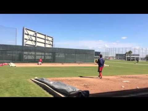 Koji Uehara throwing. 2-16-15.
